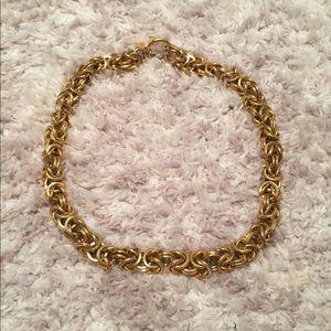 "Anne Klein Gold Woven Chain Necklace 17"""
